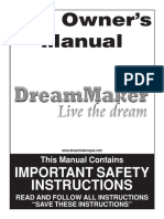 Dreammaker Spas Technical Manual