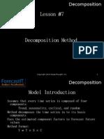 Forecast It 7. Decomposition