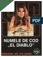 """110. Gerard de Villiers - [SAS] - Numele de cod """"El Diablo"""" [v.1.0].pdf"""