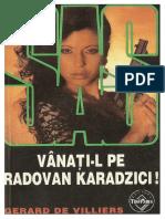 124. Gerard de Villiers - [SAS] - Vânaţi-l pe Radovan Karadzici [v.1.0].pdf
