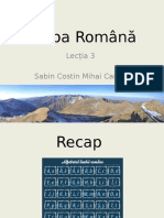 Romanian Language L.3 Cu Substantive