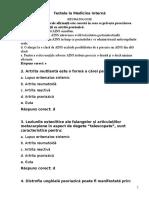 Teste in Limba Romana La Medicina Interna2