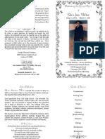 Doris Jean Walker of Cincinnati, Ohio - Funeral Program