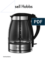 15082-10 Illuminating Glass Kettle With Oust