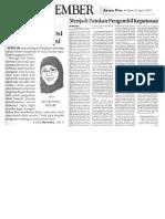 Memotret Kondisi Ekonomi Terkini (Jawa Pos Radar Jember, Perspektif, 25 April 2016, Hlm. 6 & 11)