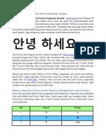 Belajar Bahasa Korea Untuk Pemula Pengenalan Hangeul