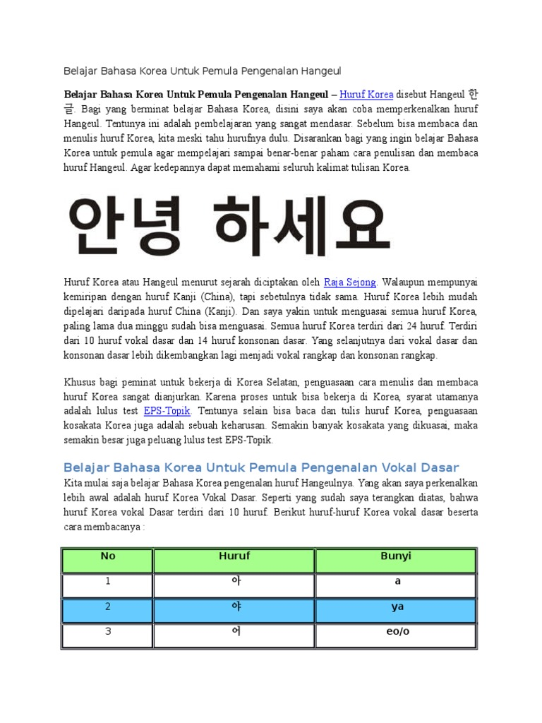 Belajar Bahasa Korea Untuk Pemula Pdf Viewer Lostplace