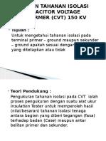 2. Pengujian Tahanan Isolasi Cvt 150kv - Slamet Febriyanto