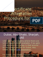 Procedure for Certificate Attestation for UAE