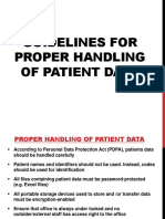 01_Guidelines for Proper Handling of Patient Data