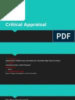 Critical Appraisal Obsesiv Compulsive