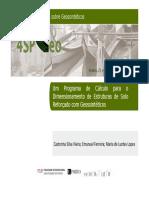 Um Programa de Cálculo para o Dimensionamento de Estruturas de Solo Reforçado com Geossintéticos