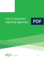 Cfpb List Consumer Reporting Agencies