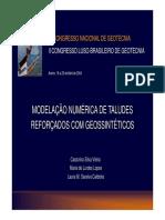 Modelaçao Numérica de Taludes Reforçados com Geossintéticos