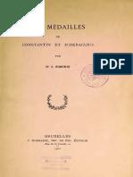 Les médailles de Constantin et d'Heraclius / par J. Simonis