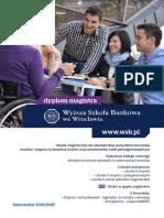 Informator 2016 - studia II stopnia - Wyższa Szkoła Bankowa we Wrocławiu.pdf