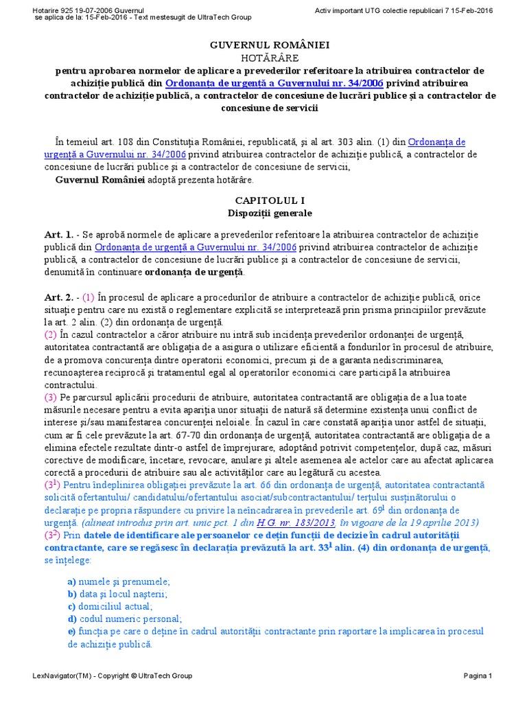oug 34/2006 actualizata 2013