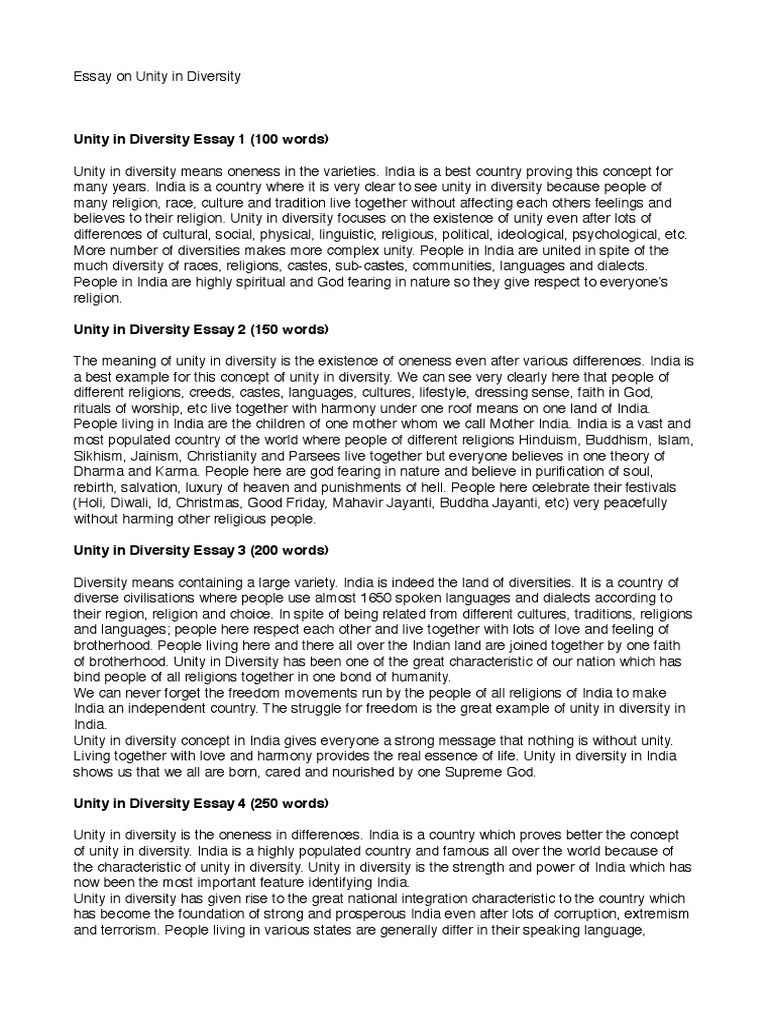Essay On Beauty  Unity And Diversity Essay How To Structure An Essay also Sample Of Comparative Essay Unity And Diversity Essay Coursework Writing Service Wnhomeworklvok  Steps To Writing A Persuasive Essay