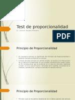 Test de Proporcionalidad