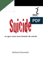 Suicide, Ce Que Vous Avez Besoin de Savoir