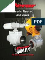 Perar Trunnion Ball Valves