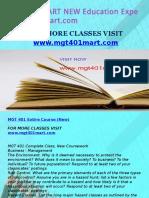 MGT 401 MART NEW Education Expert-mgt401mart.com