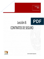 Leccion 8. Contratos de Seguro