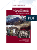 Baha'i International Community, Violence With Impunity