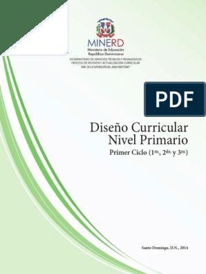 Diseno Curricular Nivel Primario Primer Ciclo Pdf