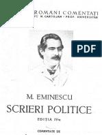 Eminescu Scrieri Politice Editia IV 1