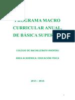 Planificación Anual Educacion Fisica 2015 - 2016 [Gary] 8vo A