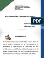 REGULACIONES VENEZOLANA EN MATERIA DE LAS TIC.pdf