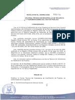 2009-193 Modifica Subsistema de Clasificacion Puesto