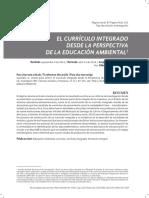 EL CURRÍCULO INTEGRADO DESDE LA PERSPECTIVA DE LA EDUCACIÓN AMBIENTAL1