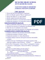 Tamil Nadu Trb Tet Tnpsc Class 12 Chemistry English Medium Important 5 Mark Download Plus Two Study Materials