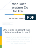 what does literature do for us-