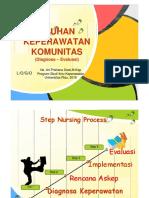 Asuhan Keperawatan Komunitas Diagnosa - Evaluasi