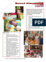 25509 Picturebased Discussion Elementary 3 Family Occasions Holidays