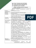 Primera Ficha Tecnica de Estudio Evluacion de Proyectos