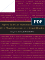 Houston Workers Memorial Day Report 2016 Spanish
