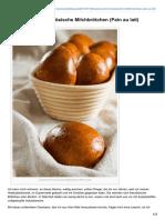 Ploetzblog.de-leserwunsch Französische Milchbrötchen Pain Au Lait