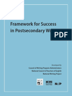 framework for success anthony annotations