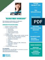 Recruitment Workshop- 27 Feb 2014