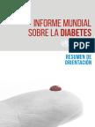 WHO Informe Mundial Diabetes Spa