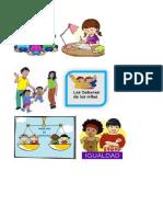 Deberes de Los Niños en Dibujos y Derechos