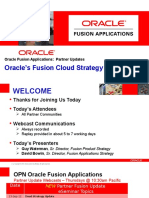 Oracle Fusion Cloud Strategy