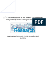 middle school research course
