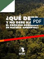 Propuestas de La SPDA en Material Ambiental Para El Próximo Gobierno