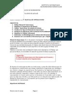 Guia Del Manual de Operaciones 2016 y Esquema de Presentación