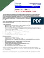 Automatic Visa Revalidation (US CBP)